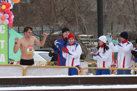 Running across Novosibirsk in nothing but your underwear.